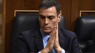 El Primer ministro español, Pedro Sánchez, en una reciente sesión parlamentaria .0