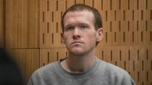 El asesino de Christchurch, Brenton Tarrant, durante su juicio en Christchurch el 27 de agosto de 2020