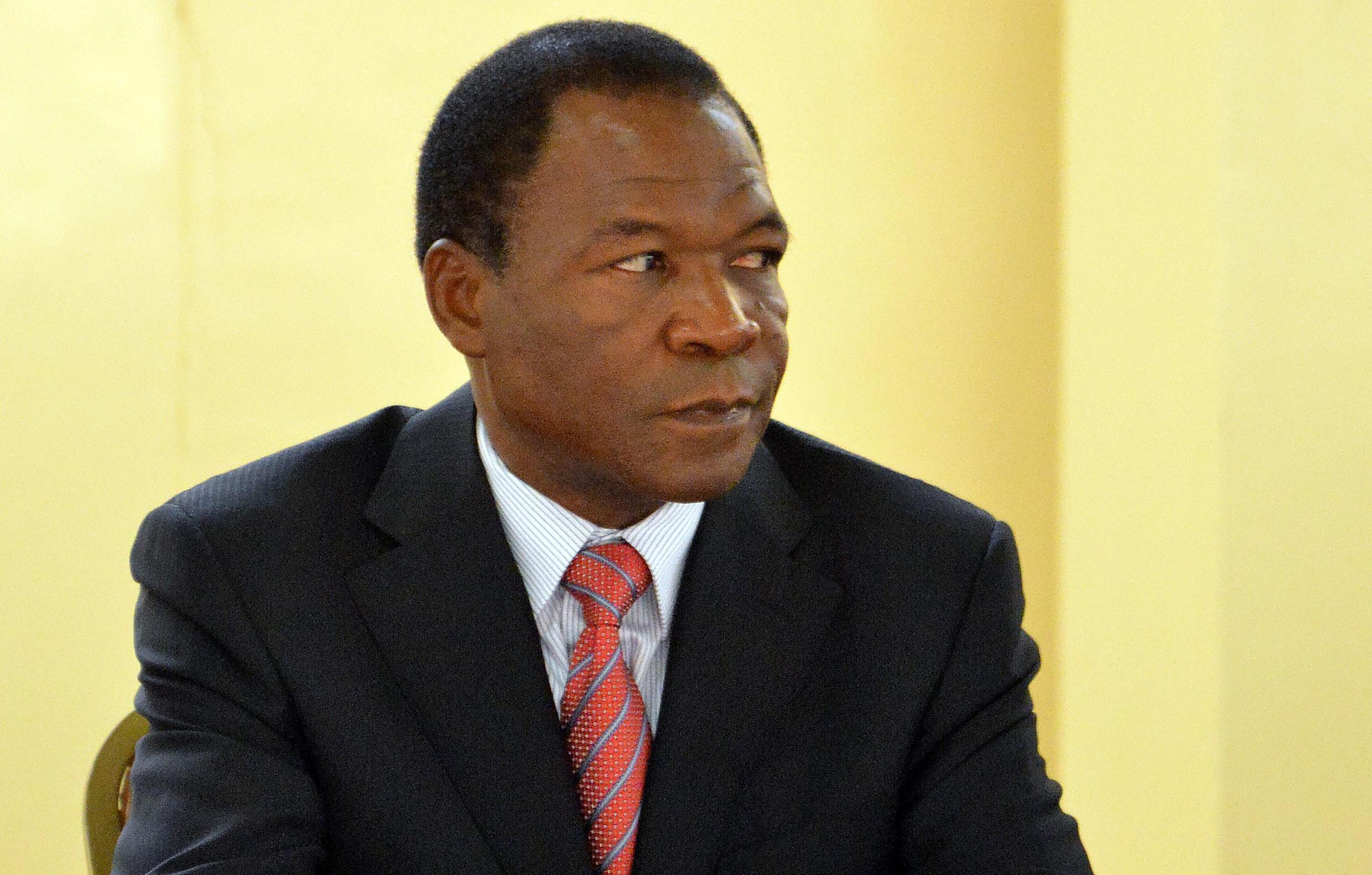 Francois Compaoré, brother of the deposed Burkinabe President Blaise Compaoré, looks on during a summit in Ouagadougou in December 2012.
