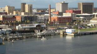 Une vue de la ville de Galveston au Texas (Image d'illustration).