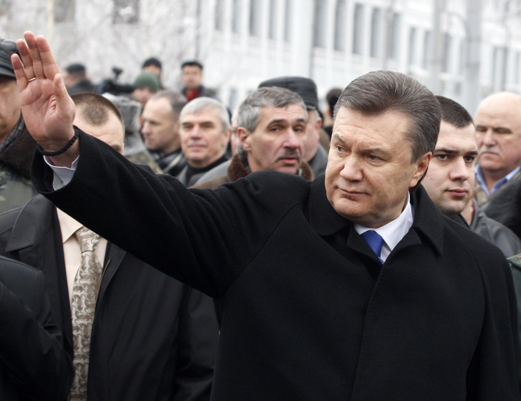 El presidente ucraniano Víctor Yanukovich.