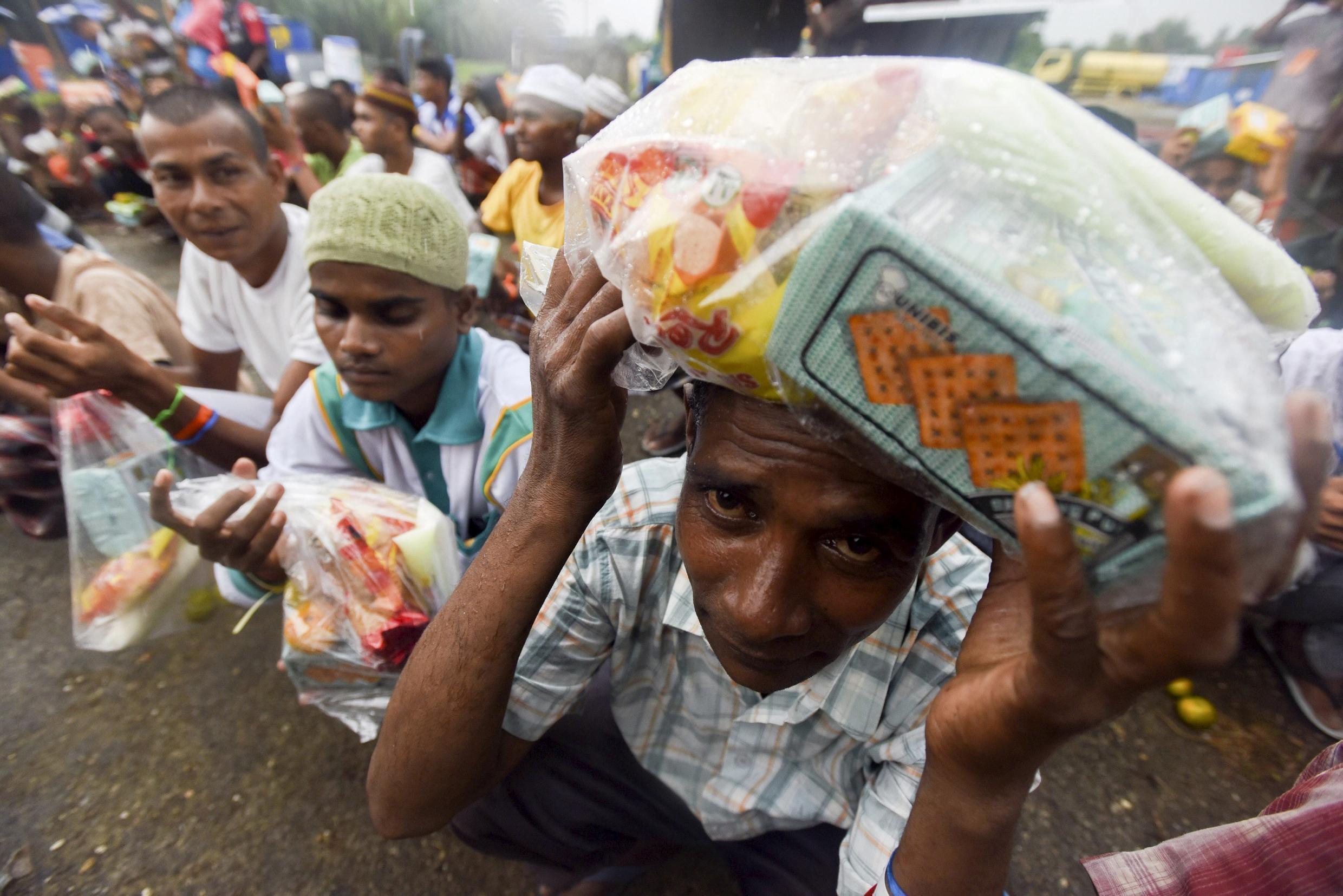 Des migrants Rohingya à Langsa, le 31 mai 2015.
