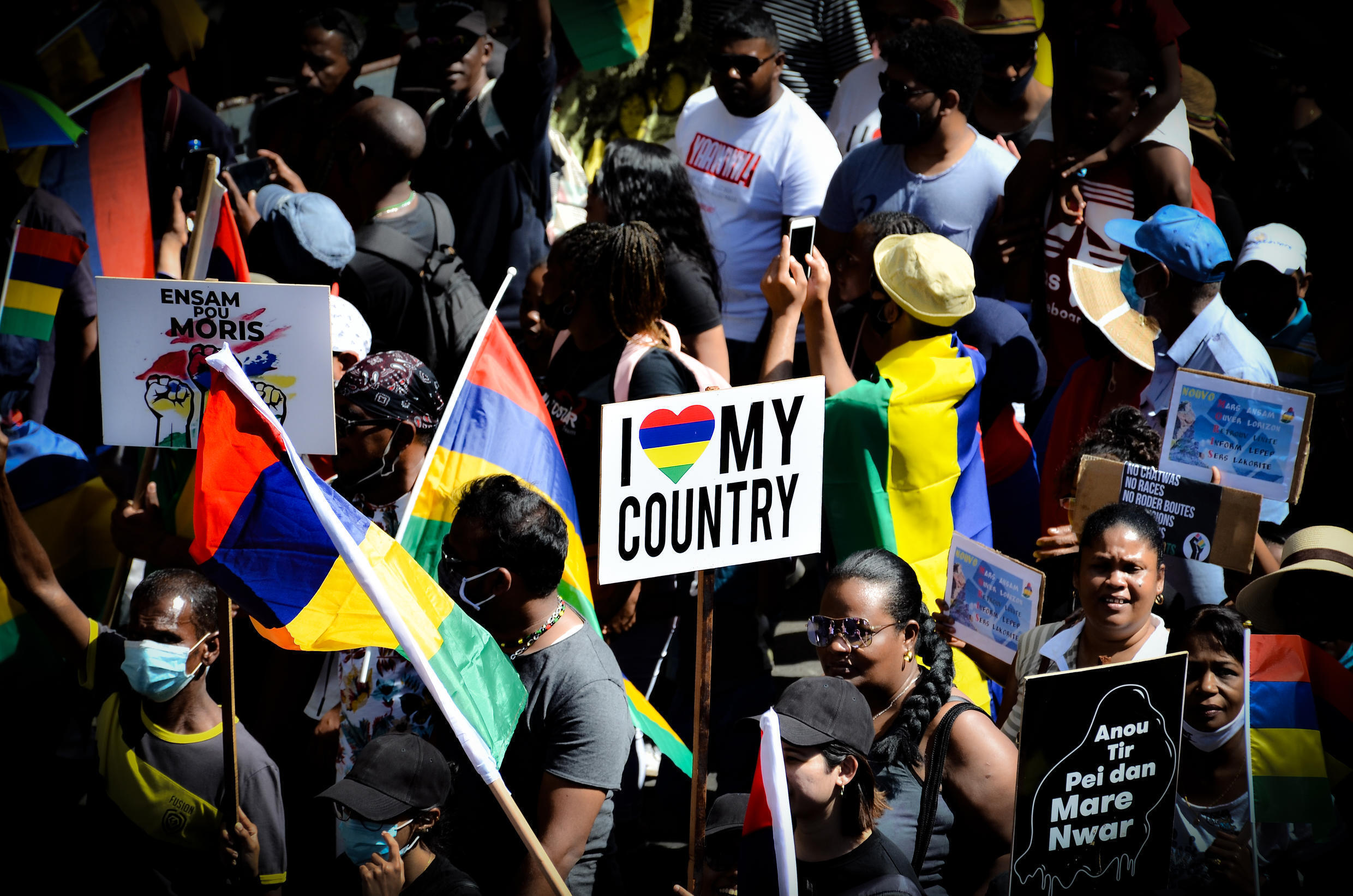 Mauritians took to the streets a second time after the Wakashion oil spill demanding more solidarity and a complete overhaul of the system governing them.
