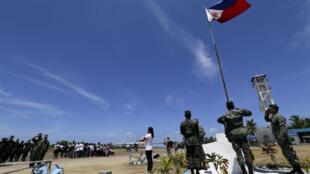 Binh sĩ Philippines trên đảo Thị Tứ, Trường Sa , nơi có tranh chấp chủ quyền giữa Việt Nam, Philippines, Trung Quốc, Đài Loan. Ảnh chụp ngày 11/05/2015.
