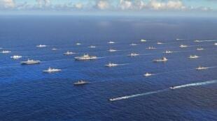 图为2016年环太平洋军演照片