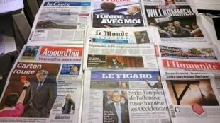 Diários franceses  09/10/2015
