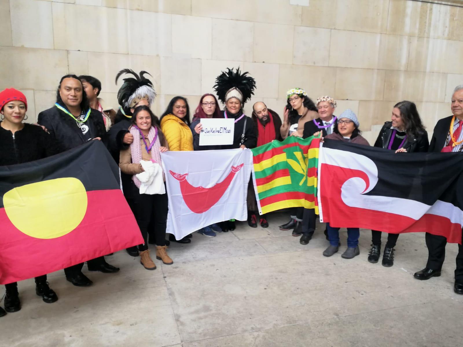 La delegación de Rapa Nui en Londres.