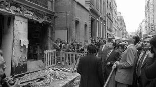 The synagogue in the rue Copernic after the bombing