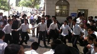 Juifs ultra-orthodoxes à Jérusalem.
