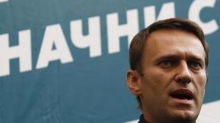 L'opposant russe Alexeï Navalny, blogueur-anticorruption de 37 ans, le 9 septembre 2013.