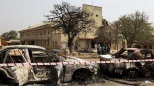 Madalla, dans la périphérie de la capitale nigériane. L'église catholique Sainte-Thérèse frappée par un attentat le 25 décembre 2011.