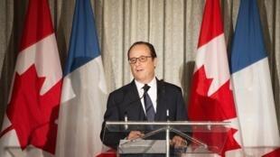 Shugaban Faransa François Hollande, lokacin da ya kai ziyara kasar Canada
