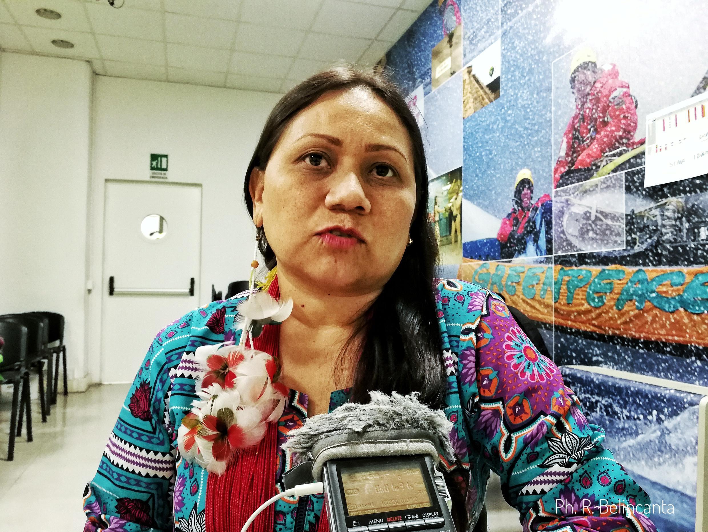 Nara Baré, coordenadora da Coiab Amazônia (Coordenação das Organizações Indígenas da Amazônia Brasileira)