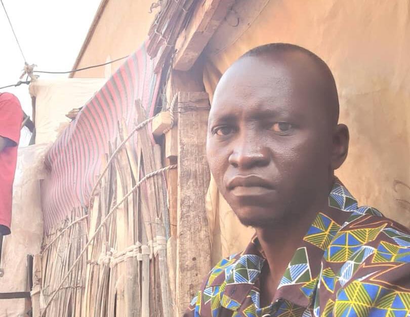 Editan jaridar Salam Info a kasar Chadi, Martin Inoua Doulguet, a gidan kason da yake tsare a birnin N'Djamena na kasar Chadi
