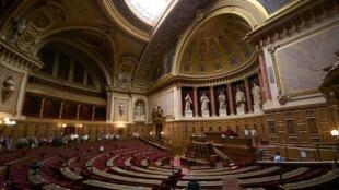 L'hémicycle du Sénat français.