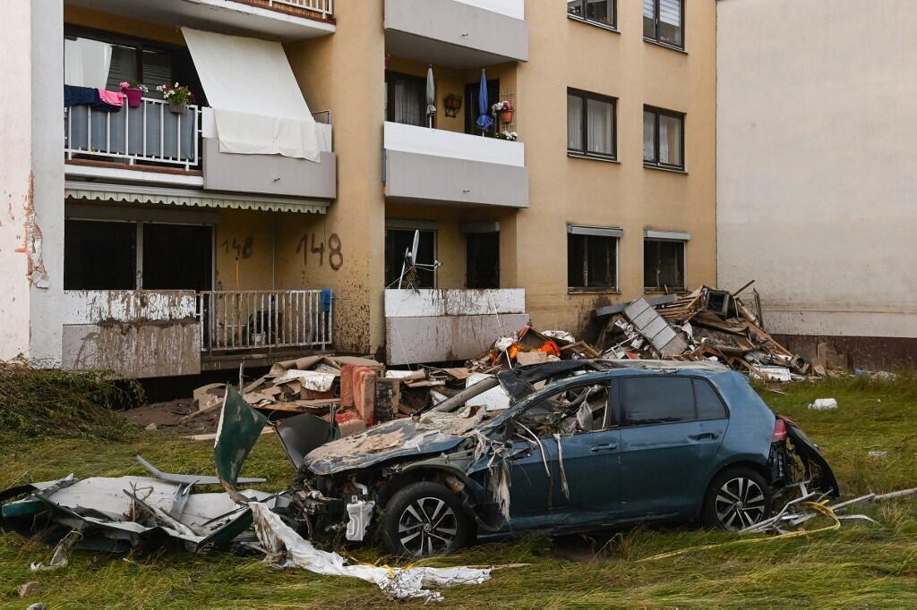Bad Neuenahr, dans l'ouest de l'Allemagne, le 17 juillet 2021, après les inondations dévastatrices.