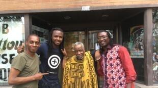 Claudy Siar, Kabey Konaté, Lamine Touré, fondateur du festival, et Alioune Guisse.