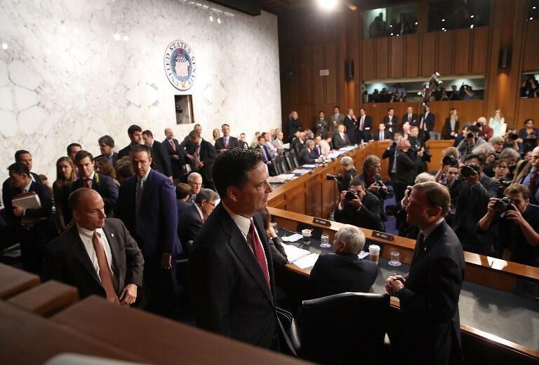 Джеймс Коми прибыл на слушания в Сенате, 8 июня 2017.