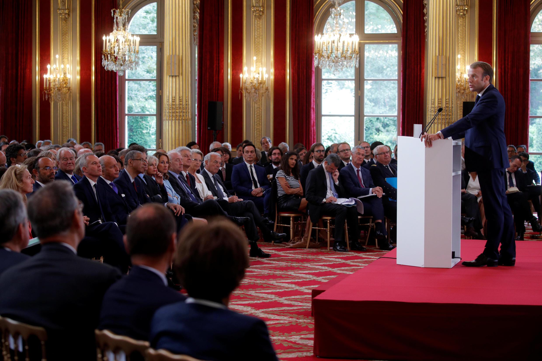 В ходе выступления перед послами 27.09.2018 президент Макрон больше всего времени посвятил теме реформирования Европы