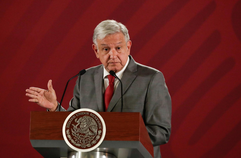 (Ảnh minh họa) - Tổng thống Mêhicô Andres Manuel Lopez Obrador trong một cuộc họp báo tại phủ tổng thống, ngày 31/05/2019.