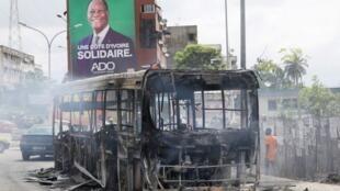 Vurugu hizo zilitokea katika mji wa Bonoua, karibu kilomita hamsini kutoka mji wa Abidjan, wakati vikosi vya usalama vilipowafyatulia risasi waandamanaji, mashahidi kadhaa wamebaini.