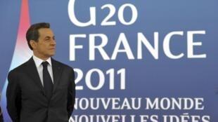 El presidente francés Nicolas Sarkozy en Cannes, el 3 de noviembre de 2011.