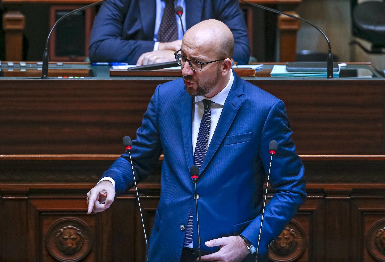 Премьер-министр Бельгии Шарль Мишель объявил об усилении антитеррористических мер после терактов в Париже, 19 ноября 2015.