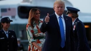 U.S. President Donald Trump and first lady Melania Trump depart for travel to Britain from Joint Base Andrews, Maryland, U.S. June 2, 2019.