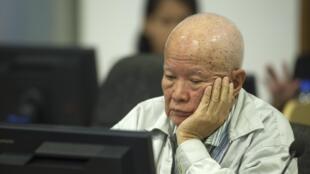 Cựu lãnh đạo Khmer Đỏ Khieu Samphan.Ảnh ngày 30/07/2014.