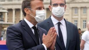 Le président Emmanuel Macron et son Premier ministre Jean Castex, le 14 juillet 2020.