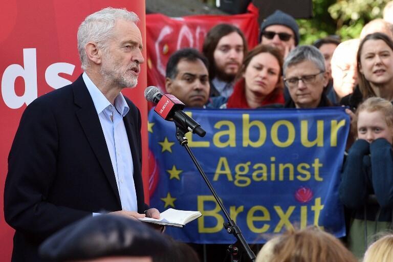 Lãnh đạo Công Đảng Jeremy Corbyn tại Broxtowe, miền trung nước Anh, ngày 25/02/2019.