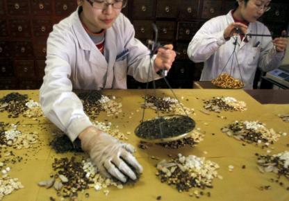 Médecine traditionnelle en Chine.