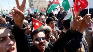Manifestation antigouvernmentale à Amman en mars 2011.