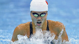 Kình ngư Việt Nam Nguyễn Thi Ánh viên trong nội dung thi đấu 200m bướm tại Sea Games 28 ngày 11/06/2015.