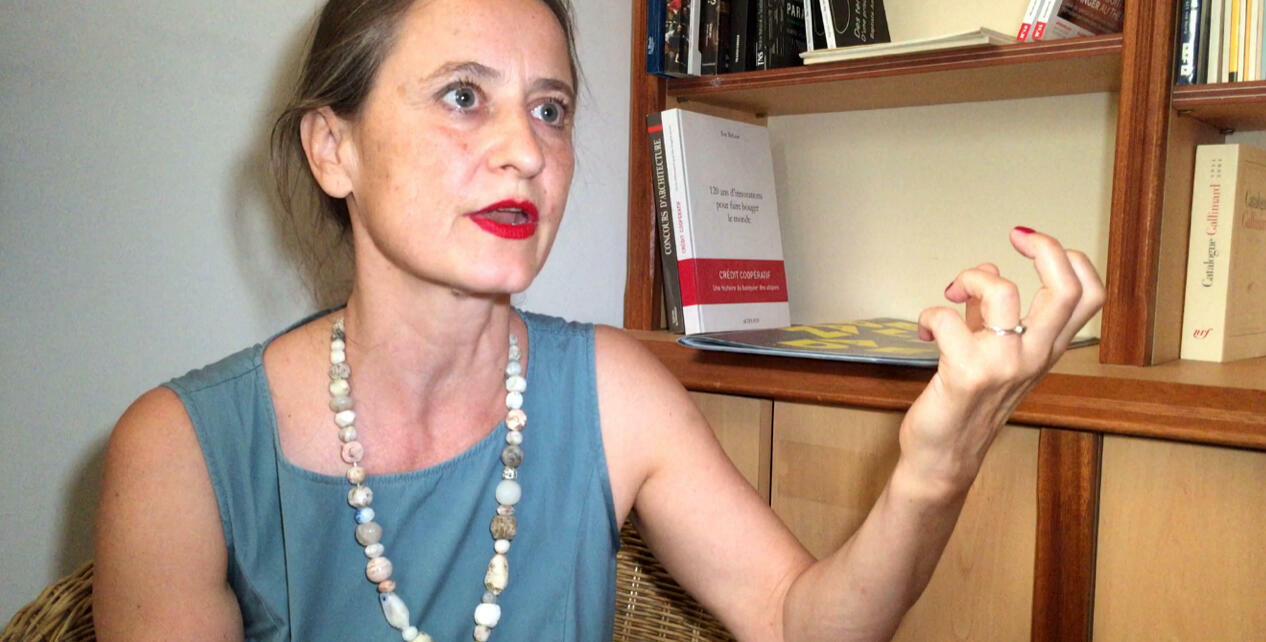 La chorégraphe allemande Sasha Waltz après la présentation de « Kreatur » au Festival d'Avignon 2018.