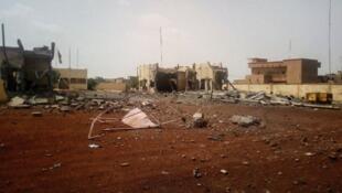 Gaban ginin hedikwatar rundunar hadin gwiwa ta G5 Sahel da aka kai wa hari a Mali.