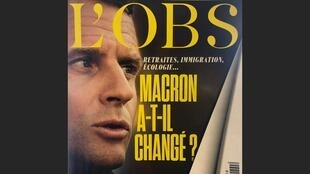 Revista L'Obs pergunta se Macron realmente mudou.