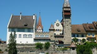 Vue de Bremgarten en Suisse.