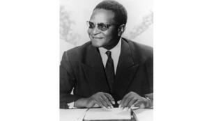 Portrait daté de mars 1969 de Diori Hamani, président de la République du Niger.