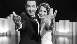 "Jean Dujardin e Bérénice Bejo em cena do filme francês ""O Artista""."