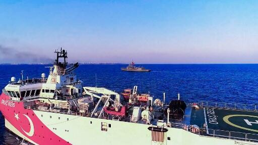 Tensions were stoked on 10 August when Ankara dispatched the research ship Oruc Reis accompanied by Turkish naval vessels off the Greek island of Kastellorizo in the eastern Mediterranean, 12 August 2020
