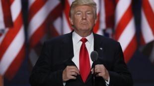 Pour son premier discours de candidat officiel à la Maison Blanche, Donald Trump a tenu un discours aux tonalités particulièrement anxiogènes.