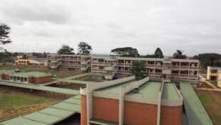 Les bâtiments du nouveau campus de l'université Houphouët-Boigny en Côte d'Ivoire.