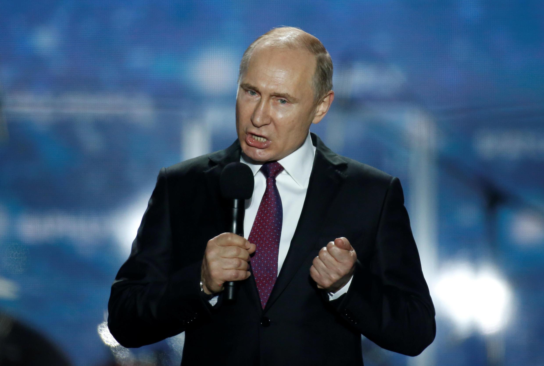 Tổng thống Nga Vladimir Putin mít tinh vận động bầu cử ngày 14/03/2018 tại Crimée.