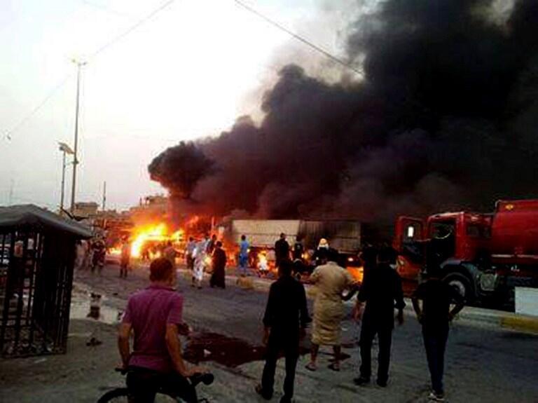 Место теракта в шиитском квартале Багдада Садр Сити 21 сентября 2013.