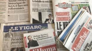 Primeiras páginas jornais franceses 3/04/2017