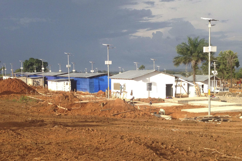 An Ebola virus treatment center in Freetown, Sierra Leone