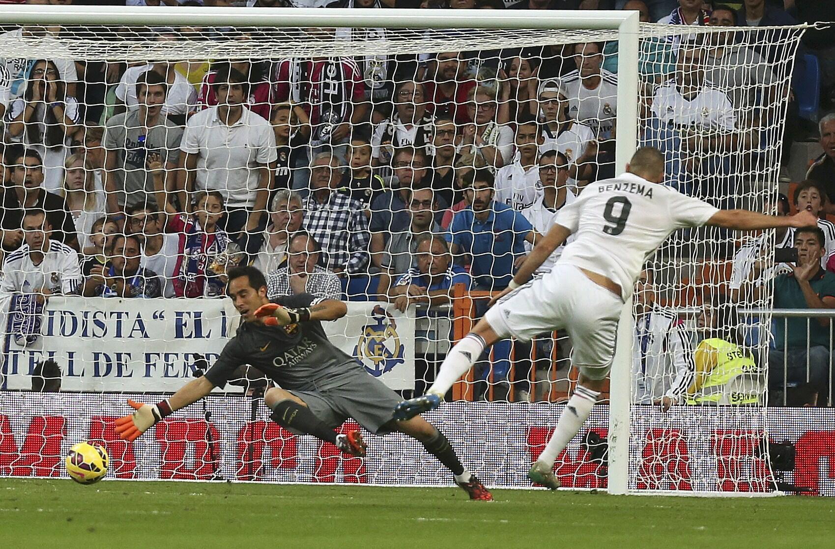 Benzema na Real Madrid ya jefa kwallo a ragar Barcelona