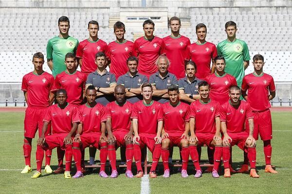 Selecção Portuguesa Sub-19 no Campeonato da Europa de 2014 que se disputa na Hungria.