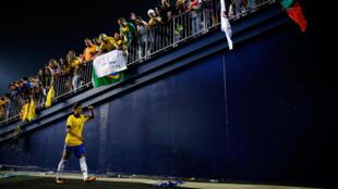 Neymar durante amistoso contra Portugual, em 10 de setembro de 2013.